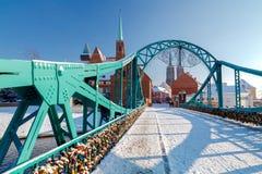 Wroclaw. Tumski bridge Royalty Free Stock Image