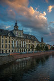 Wroclaw University against beautiful sky background Royalty Free Stock Image