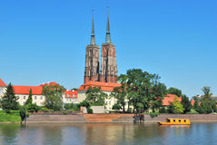 Wroclaw. View of the island Tumski Royalty Free Stock Photos