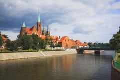 wroclaw Vue de l'église historique photo libre de droits
