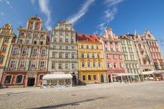 Wroclaw - vue de l'architecture historique rénovée image stock