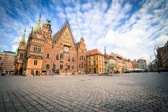 wroclaw Vue de la vieille place image stock