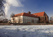 Wroclaw in winter ostrow tumski Stock Photos