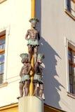 wroclaw Zwarte mens drie op de hoek Royalty-vrije Stock Afbeelding