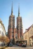 Wroclawkathedraal Royalty-vrije Stock Fotografie