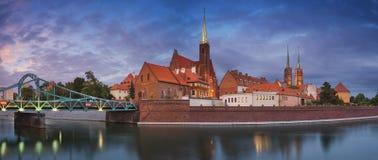 Wroclawpanorama stock fotografie