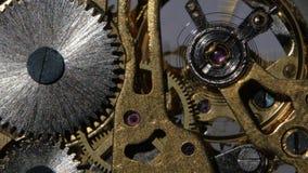 Wśrodku zegaru z bliska zdjęcie wideo