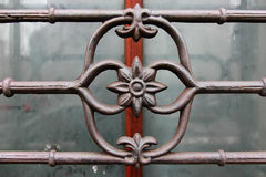 Wroght Iron bar ornamental detail Royalty Free Stock Photography