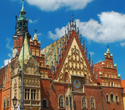 Wroklaw, Poland. Town hall architectural detail Royalty Free Stock Image