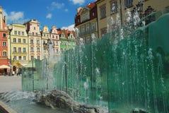 Wroklaw, Pologne. Rynek, fontaine d'eau images libres de droits