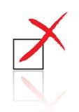 Wrong. Mark in check box vector illustration