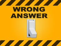Wrong Answer concept Stock Photography