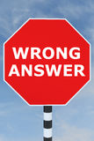 Wrong Answer concept Stock Image