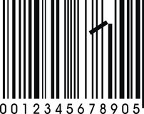 Wrong barcode Stock Images