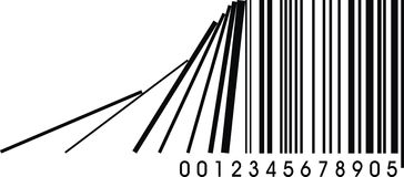 Wrong barcode. Illustrated wrong barcode isolated on white background vector illustration