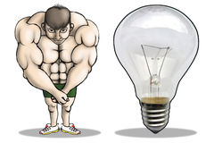 Wrong body building. Wrong bodybuilding leads to such result Stock Photos