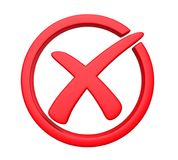 Wrong Cross Symbol Isolated royalty free illustration