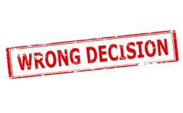 Wrong decision royalty free illustration