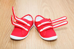 Wrong feet shoes Royalty Free Stock Images