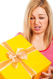 Wrong gift Stock Photo