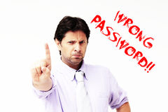 Wrong password Royalty Free Stock Photography