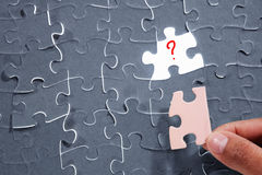 Wrong piece of puzzle Stock Photo