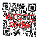Wrong QR code broken into pieces. On white stock illustration