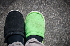 Wrong shoe royalty free stock photos