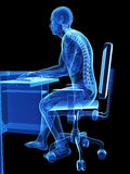 Wrong sitting posture Royalty Free Stock Photo