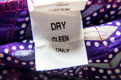 Wrong tag for dry-cleaning Royalty Free Stock Image