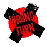 Wrong Turn rubber stamp Stock Photos