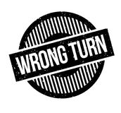 Wrong Turn rubber stamp. Grunge design with dust scratches. Effects can be easily removed for a clean, crisp look. Color is easily changed Royalty Free Stock Photos