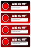 Wrong way Royalty Free Stock Photos