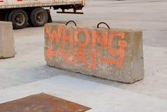 Wrong Way Stock Images