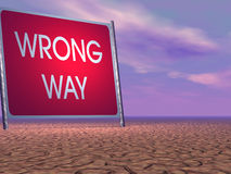 Wrong way Stock Images