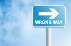 Wrong way royalty free illustration