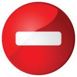 Wrong way. Illustration of a glossy wrong way traffic sign royalty free illustration