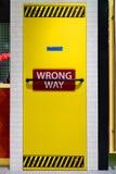 Wrong Way Door stock image