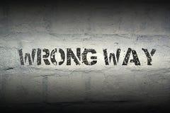 Wrong Way Gr Stock Photos