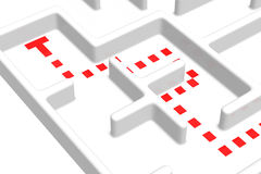 Wrong Way Maze. Wrong way in the maze Royalty Free Stock Photo