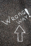 Wrong way Royalty Free Stock Image