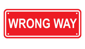 Wrong way or no entry sign or symbol Royalty Free Stock Photos