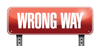 Wrong way road sign illustration design Stock Photography