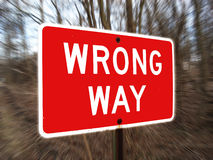 Wrong Way Sign Royalty Free Stock Images