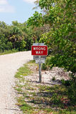Wrong way sign in park Stock Photo