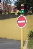 Wrong way signal (no-entry) Royalty Free Stock Image
