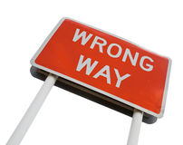 Wrong Way signpost Royalty Free Stock Photo