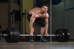 Wrong Way To Do Deadlift Royalty Free Stock Photography