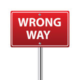 Wrong way traffic sign Royalty Free Stock Photo