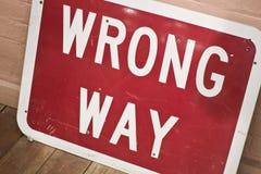 Wrong way Stock Image